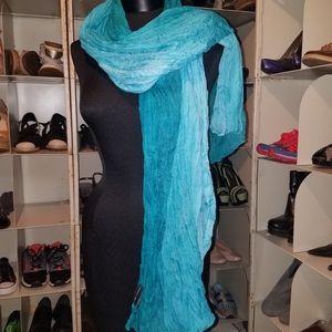 New York Company aqua scarf